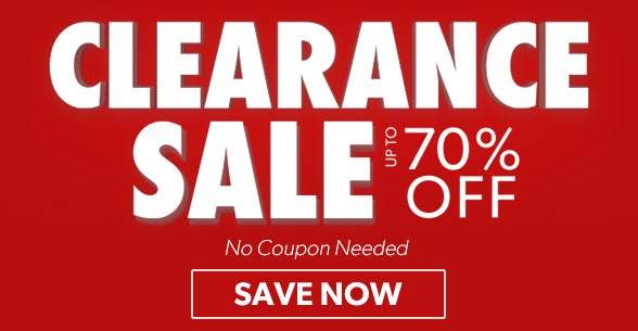 70% off Clearance Sale