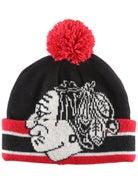16a222682646a Chicago Blackhawks CCM Cuffed Pom Knit NHL Beanie