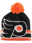 8dae8717cf640 Philadelphia Flyers CCM Cuffed Pom Knit NHL Beanie