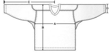 Bauer Jersey Sizing Chart (Inches) cbc506dd18d