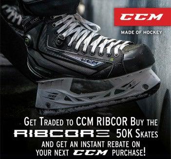 reebok 50k skates. $50 ccm e-coupon w/purchase of ribcor 50k sr skate reebok 50k skates
