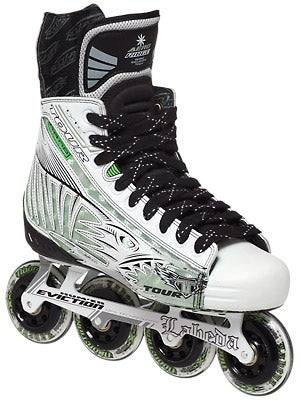 Tour Fish BoneLite Pro WHITE Roller Hockey Skates Jr
