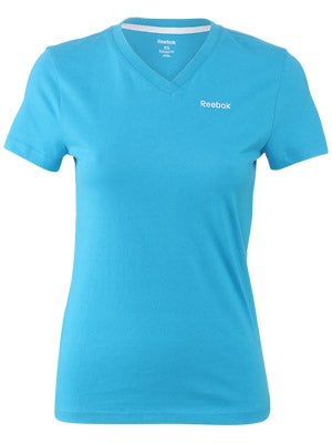 Reebok Cotton V-Neck Short Sleeve Shirt Women's