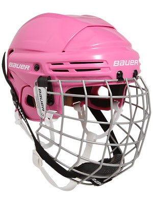 Bauer 2100 Pink Hockey Helmet w/Cage Junior
