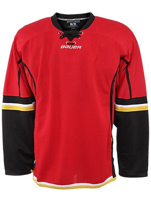 Calgary Flames Bauer 800  Uncrested Jerseys Sr MEDIUM
