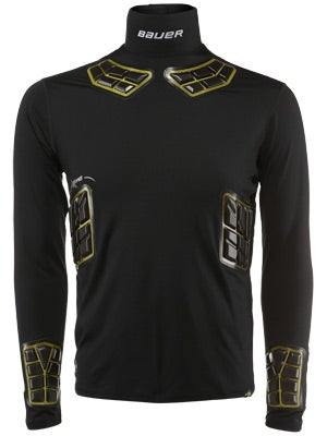 Bauer 37.5 Elite Padded NECKPROTECT Perf L/S Shirt Sr