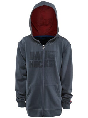 Bauer Hockey Full Zip Hoodie Sweatshirt Jr