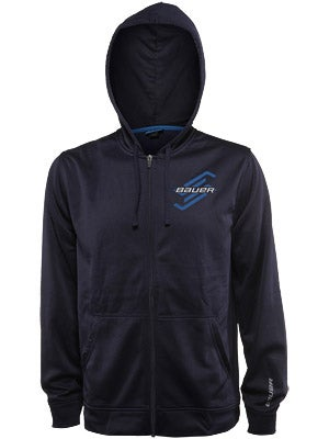 Bauer Post Game Full Zip Hoodie Sweatshirt Sr Sm