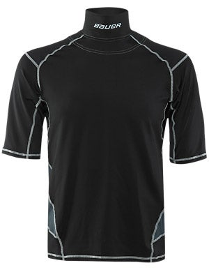 Bauer Premium Perf S/S Shirt w/Integrated Neck Top Sr