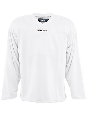 Bauer Core 6001 Practice Hockey Jersey White Sr SMALL