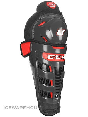 CCM U+ Crazy Strong Hockey Shin Guards Sr 16