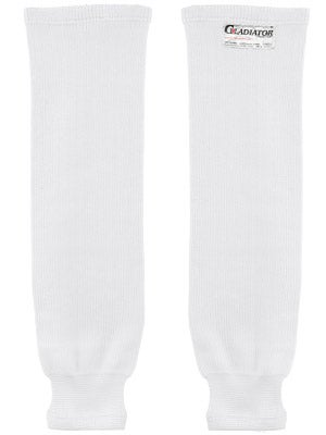 Gladiator Cut-Resistant Ice Hockey Socks White Sr