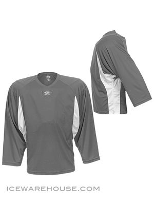 Easton Elite Dry Flow Goalie Jersey Grey & White Sr