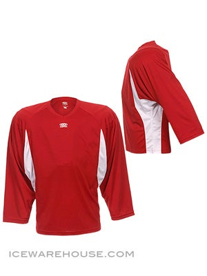 Easton Elite Dry Flow Goalie Jersey Red & White Sr