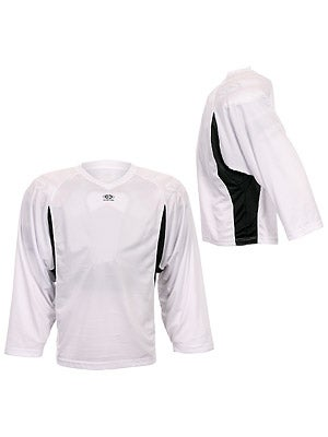 Easton Elite Dry Flow Player Jersey White & Black Sr