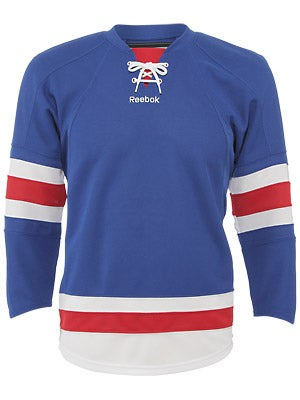 New York Rangers Reebok Edge Uncrested Jerseys Jr