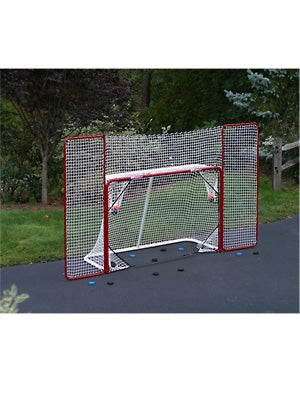 EZGoal Folding Official Hockey Goal w/Backstop&Targets