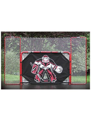 EZGoal Folding Official Hockey Goal DELUXE COMBO