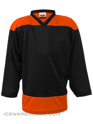 K1 2100 Goalie Hockey Jersey Black & Orange Sr