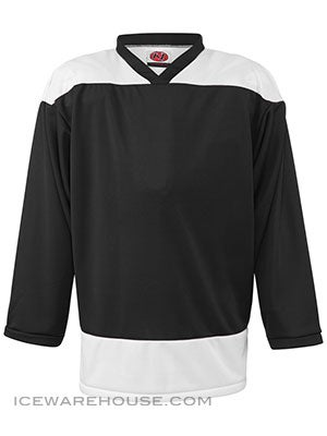 K1 2100 Goalie Hockey Jersey Black & White Sr