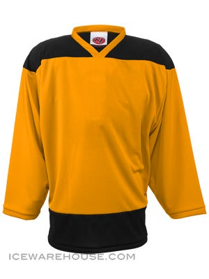 K1 2100 Goalie Hockey Jersey Gold & Black Sr