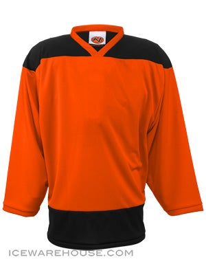 K1 2100 Goalie Hockey Jersey Orange & Black Sr