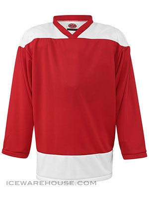 K1 2100 Goalie Hockey Jersey Red & White Sr