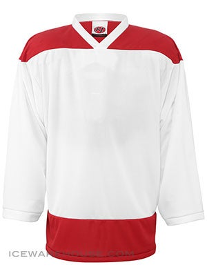 K1 2100 Goalie Hockey Jersey White & Red Sr