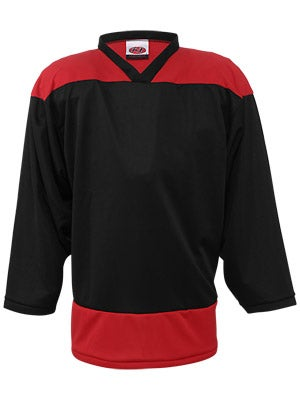 K1 2100 Player Hockey Jersey Black & Red Sr Small