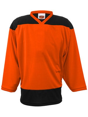 K1 2100 Player Hockey Jersey Orange & Black Sr Lg