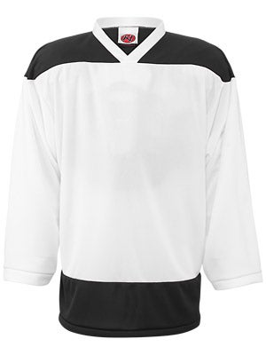 K1 2100 Player Hockey Jersey White & Black Jr Small