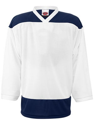 K1 2100 Player Hockey Jersey White & Navy Jr
