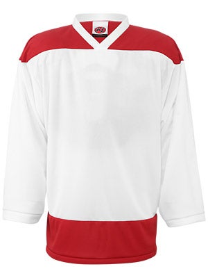 K1 2100 Player Hockey Jersey White & Red Jr