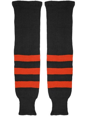 K1 Black & Orange Ice Hockey Socks Jr