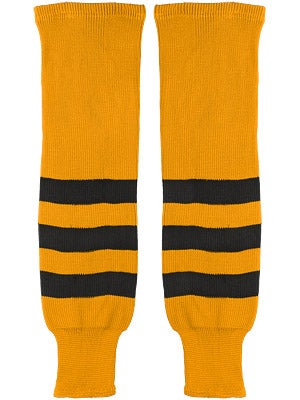 K1 Gold & Black Ice Hockey Socks Sr