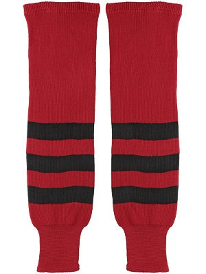 K1 Red & Black Ice Hockey Socks Jr