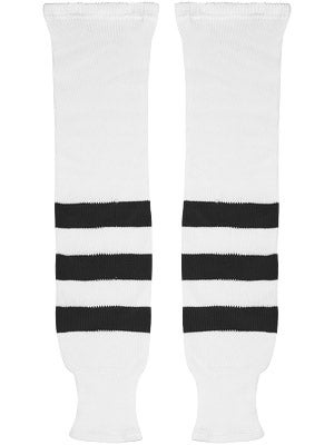 K1 White & Black Ice Hockey Socks Jr