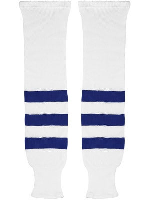 K1 White & Royal Ice Hockey Socks Sr