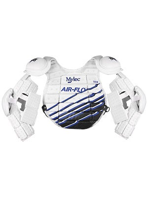 Mylec Air-Flo Goalie Chest Protectors Jr Wht/Bl