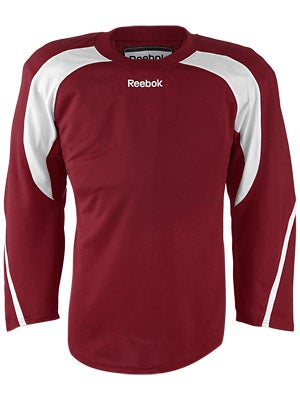 Reebok Edge Hockey Jersey Burgundy & White Sr