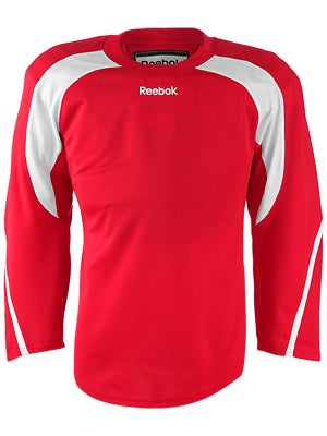Reebok Edge Hockey Jersey Red & White Sr