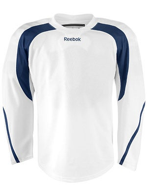 Reebok Edge Hockey Jersey White & Navy Jr