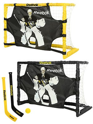 Reebok Fleury Deluxe Mini Hockey Goal Dual Set