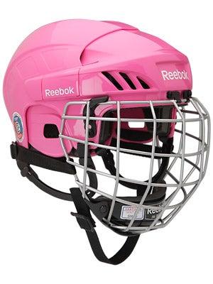 Reebok 3K Pink Hockey Helmets w/Cage