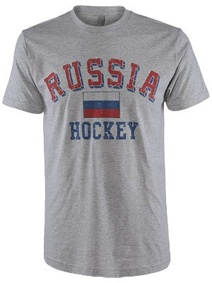 Russia Hockey Flag Shirt Sr