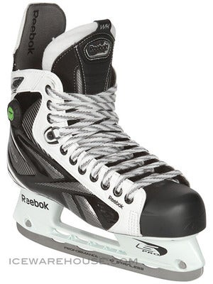 Reebok White K Pump Ice Hockey Skates Jr