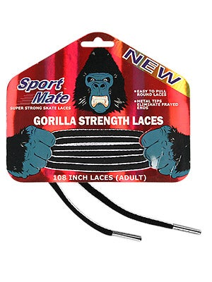 Sport Mate Gorilla Hockey Skate Laces Unwaxed