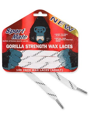 Sport Mate Gorilla Hockey Skate Laces Waxed