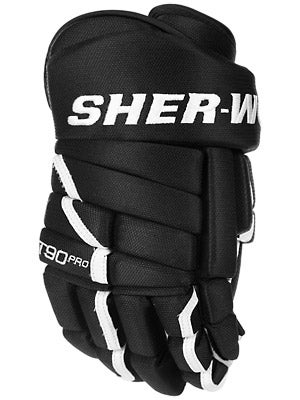 Sherwood T90 Pro Nylon 4 Roll Hockey Gloves Sr