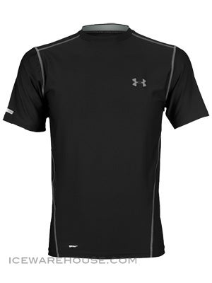 Under Armour HeatGear Fitted Perf S/S Shirt Sr